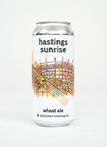Hastings Sunrise Wheat Ale in a can