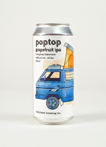 Poptop Grapefruit IPA in a can
