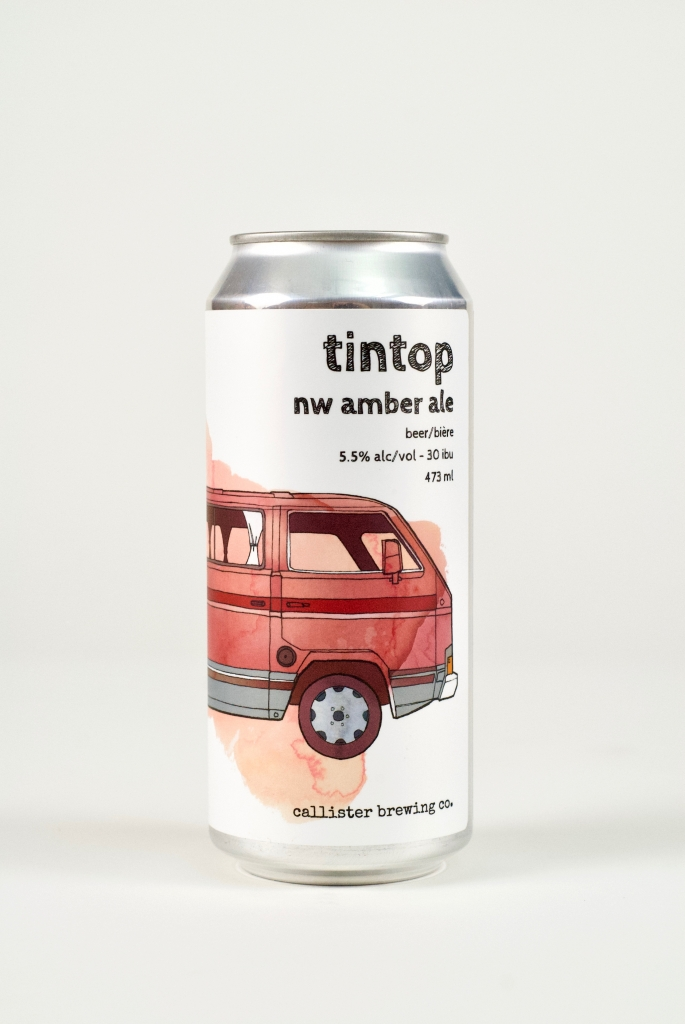 Tin Top Amber Ale in a can